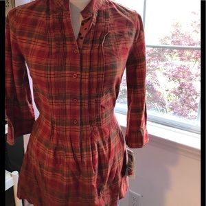 Orange & Red NWT Plaid Mossimo M Cotton